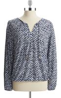 MICHAEL Michael Kors Patterned Top - Lyst