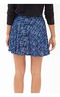 Forever 21 Windowpane Print Skater Skirt - Lyst
