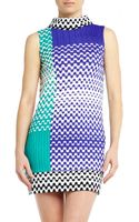 Missoni Printed Color Block Dress - Lyst
