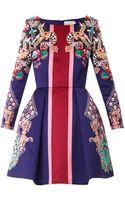 Mary Katrantzou Coppelia Pearl and Pendant Print Dress - Lyst