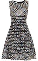 Oscar de la Renta Tweed Flared-skirt Dress - Lyst