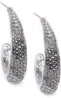 Judith Jack Sterling Silver Crystal and Marcasite Large Hoop Earrings - Lyst