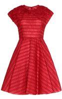 Giambattista Valli Silk Organza Macramé Dress - Lyst