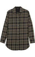 Belstaff Olivia Plaid Cotton-blend Shirt - Lyst