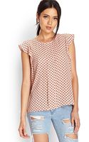 Forever 21 Georgette Polka Dot Top - Lyst