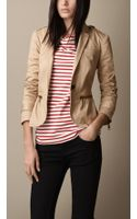 Burberry Military Detail Fitted Jacket - Lyst