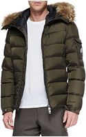 Moncler Byron Furtrim Hood Puffer Jacket - Lyst