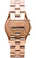Marc By Marc Jacobs Henry Chrono Watch in Metallic Copper - Lyst