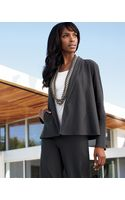 Eileen Fisher Short Crepe Jacket Petite - Lyst