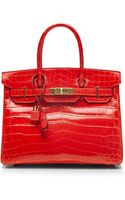 Heritage Auctions Special Collection Hermes 30cm Geranium Shiny Nilo Birkin - Lyst
