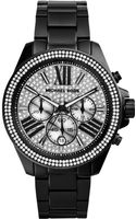 Michael Kors Womens Chronograph Wren Black Ionplated Stainless Steel Bracelet Watch 42mm - Lyst