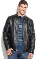 Guess Faux Leather Moto Jacket - Lyst