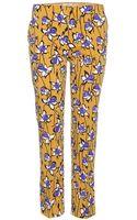Miu Miu Printed Wooltwill Trousers - Lyst