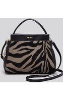 DKNY Crossbody - Tiger Print Hair Calf - Lyst