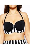 Asos Curve Longline Bikini Top in Wide Stripe - Lyst