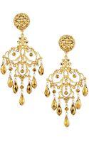 Jose & Maria Barrera 24k Gold Plated Filigree Chandelier Earrings - Lyst