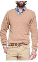 Peter Millar Cashmere V-neck Sweater - Lyst