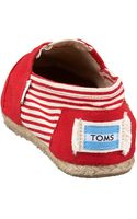 Toms University Slipon Red - Lyst
