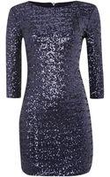 Tfnc Sequin Bodycon 34 Sleeve Dress - Lyst