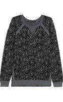 Marc By Marc Jacobs Cassidy Leopardjacquard Sweatshirt - Lyst