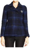 Fred Perry Coat Wool Double Breast - Lyst