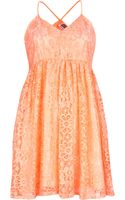River Island Pink Chelsea Girl Lace Babydoll Dress - Lyst