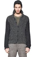 Diesel Wool Blend Cable Knit Cardigan - Lyst