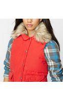 Denim & Supply Ralph Lauren Faux Fur-trimmed Down Vest - Lyst