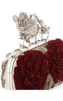 Alexander McQueen Beaded Flower Knuckle Box Clutch Bag - Lyst