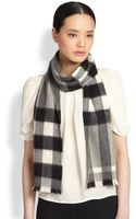 Burberry Super Check Cashmere Scarf - Lyst