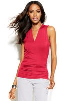 Inc International Concepts Sleeveless Ruched Top - Lyst