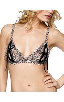 Hanky Panky Leopard Nouveau Signature Lace Peek A Boo Bralette - Lyst