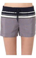 Vince Starprint Silk Shorts - Lyst