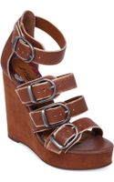 Lucky Brand Womens Rayah Platform Wedge Sandals - Lyst