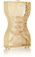 Charlotte Olympia Tight Laced Ribbonembellished Goldtone Clutch - Lyst