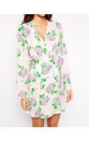 Asos Blossom Print Robe - Lyst