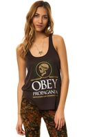 Obey The Emporers Tank - Lyst