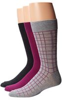 Cole Haan Double Plaid Crew 3pack - Lyst
