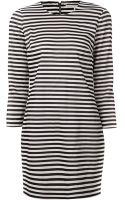 Veronica Beard Stripe T- Shirt Dress - Lyst