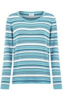 Eastex Striped Sweater - Lyst