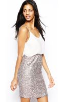 Tfnc Dress with Blouson Top and Sequin Skirt - Lyst