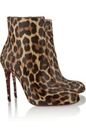 Christian Louboutin Fifi 100 Leopardprint Calf Hair Ankle Boots - Lyst