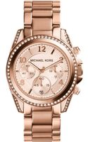 Michael Kors Blair Rose Goldtone Stainless Steel Chronograph Watch - Lyst