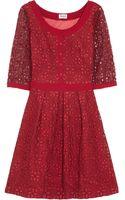 Alice By Temperley Mitsu Embroidered Organza Dress - Lyst