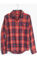 Madewell Flannel Cozy Shirt in Ember Plaid - Lyst