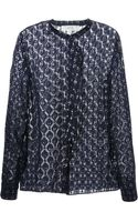 Vanessa Bruno Athé Sheer Blouse - Lyst