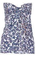 See By Chloé Floral Printed Tube Top - Lyst