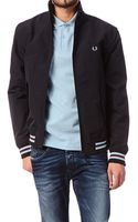 Fred Perry Zipped Jacket Tipped Nylon Jacket - Lyst