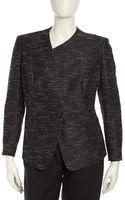 Lafayette 148 New York Bridgett Asymmetric Tailored Texturedpiping Jacket - Lyst