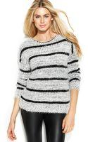Calvin Klein Long-sleeve Fuzzy Stripe Sweater - Lyst